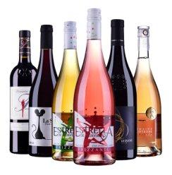 【缤纷组合】法国西班牙原瓶进口  AOC干红葡萄酒 桃红起泡干白整箱组合套装750ml*6