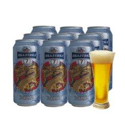 俄罗斯原装进口啤酒波罗的海听装烈性啤酒 7号黄啤450ml/罐*9罐