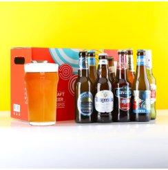 【啤酒中秋礼盒】多国精酿啤酒组合 8支混合装 比利时荷兰 多种啤酒一次尝 8支礼盒装+2支啤酒杯