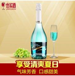 [也买酒官方旗舰店]也买酒 西班牙原瓶进口红酒 爱之湾谜蓝起泡葡萄配制酒750ml 单支