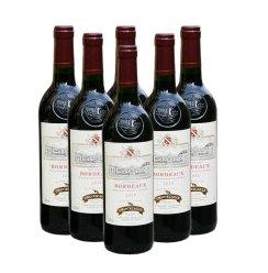 法国原瓶进口 AOC级别 香特卡依法国 波尔多干红葡萄酒(金标)整箱 750ml*6