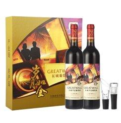 长城(GreatWall)红酒 岁月如金干红葡萄酒 双支礼盒 750ml*2瓶