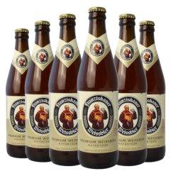 德国啤酒 Franziskaner 教士啤酒 范佳乐小麦啤酒(新旧包装随机发货) 白啤450ml*6瓶