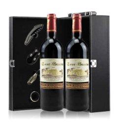 法国红酒 原瓶进口 勃朗城堡干红葡萄酒 双支礼盒750ml*2瓶