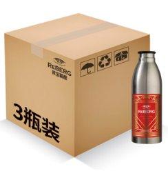 莱宝鲜啤酒 精酿深色拉格黑啤650ml*3 reberg不锈钢瓶啤酒