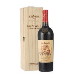 长城(GreatWall)红酒 华夏葡园金奖A区赤霞珠干红葡萄酒 750ml(木盒装)