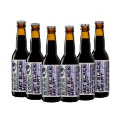 BrewDog 英国进口 精酿狗黑心喷射机牛奶世涛精酿啤酒 330ml/瓶 6瓶装