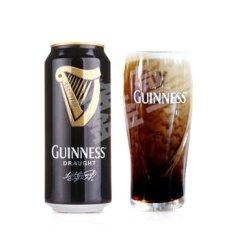 【京东送配】健力士爱尔兰原装进口guinness黑啤充氮气装生啤酒440ml 6罐装