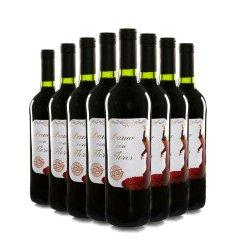 西班牙原瓶进口红酒 佛兰明哥之花甜红葡萄酒750ml 8支装