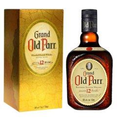 欧伯(OLD PARR)洋酒 老伯威 欧伯12年特醇调配型苏格兰威士忌750ml
