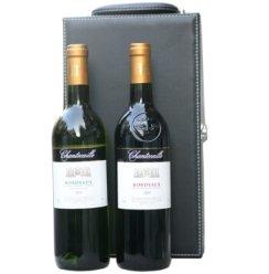 法国原瓶进口 AOC级 香特卡依波尔多干红干白葡萄酒双支高级礼盒(750ml*2)