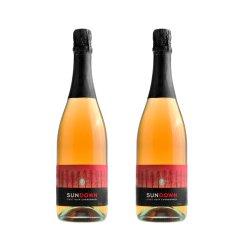 澳洲红酒 原瓶进口葡萄酒 南澳霞光黑莎起泡酒750ml*2瓶