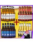 原装进口多国啤酒组合比利时英德国百威福佳时代泰谷啤酒24瓶整箱