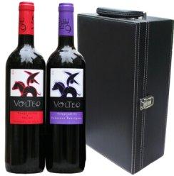 西班牙原瓶进口 骑士干红(添普兰尼洛+赤霞珠、西拉)双支礼盒(750ml*2)