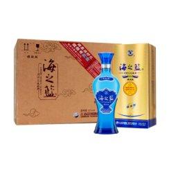 【海之蓝旗舰版】洋河海之蓝52度520ML 6瓶整箱装礼盒白酒 洋河官方旗舰店