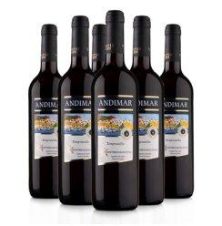 西班牙原瓶进口红酒 爱之湾(ANDIMAR)DO级干红葡萄酒750ml*6箱装 艺术标签