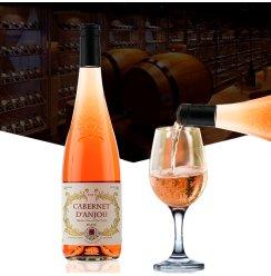 [欧利千隆酒类旗舰店]法国原瓶原装进口红酒波尔多半甜桃红2支礼盒整箱可选干红葡萄酒