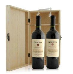 阿根廷 诺顿庄园加本力苏维翁红葡萄酒橡木桶特酿双支松木礼盒装