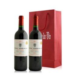 法国 达思文宝雅古堡干红葡萄酒双支礼袋装