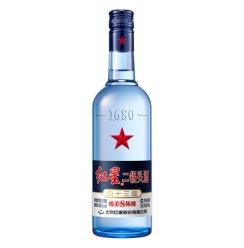 红星 白酒 蓝瓶二锅头 绵柔8陈酿 清香型 43度 500ml (新老包装随机发货)
