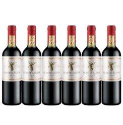 智利红酒 蒙特斯欧法精品系列原瓶进口干红葡萄酒 欧法梅洛-6支装