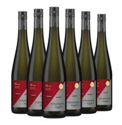 雷司令干白葡萄酒750ml 德国酒庄直供莱茵高原瓶进口 舒曼奈格半甜型甜酒葡萄酒 舒曼奈格  六瓶装