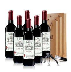 法国红酒原瓶进口巴菲波尔多AOC级干红葡萄酒750ml*6