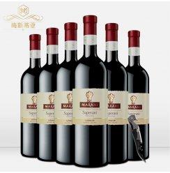格鲁吉亚原瓶进口红酒 玛拉尼萨别拉维干红葡萄酒六瓶整箱