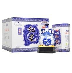 红星二锅头 青花瓷珍品(扁龙瓶) 52度清香型白酒 整箱装 750ml*6