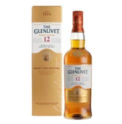 格兰威特(Glenlivet)洋酒 醇萃 12年雪莉桶陈酿单一麦芽 苏格兰 威士忌 700ml
