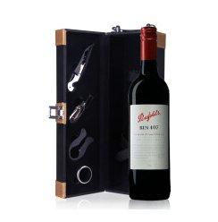 奔富407红酒 澳洲原装进口 奔富BIN407 红葡萄酒 单皮盒750ml
