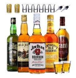 进口洋酒 占边波本奥尔德乔克阿兰船长肯塔基格兰苏格兰威士忌 威士忌组合