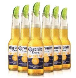 科罗娜啤酒 墨西哥原装进口黄啤CORONA进口啤酒 330ml*6瓶装