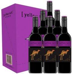 黄尾袋鼠西拉赤霞珠葡萄酒 整箱装750ml*6瓶 【超市红酒 8仓配送】澳大利亚原瓶进口红酒