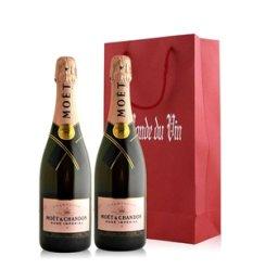 法国 酩悦粉红香槟双支礼袋装