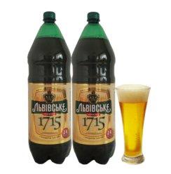 【2.4L*2桶】乌克兰进口淡色啤酒黑海金狮1715啤酒 精酿黄啤 整箱啤酒 高度啤酒进口啤酒 2.4L*2桶