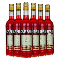 意大利进口洋酒 金巴利(Campari)苦味 利口力娇酒 750ml 六瓶