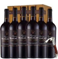 法国原瓶进口红酒 法国木桐嘉棣 珍藏波尔多红酒整箱6支送木箱酒刀