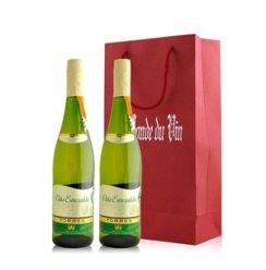 红酒客 西班牙 桃乐丝宝石半干白葡萄酒双支礼袋装