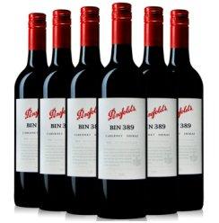 澳洲 奔富酒园BIN389卡本内设拉子干红葡萄酒 南澳原瓶进口750ml 六支整箱6瓶装