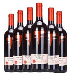 【10周年庆】也买酒 智利原瓶进口火地岛经典梅洛干红葡萄酒 750mlx6 整箱装
