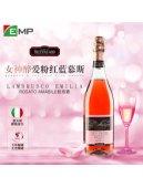意大利Lambrusco进口甜型桃红起泡酒葡萄酒女性气泡酒颜值酒750ml