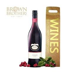澳洲进口红酒   布琅兄弟森娜甜红葡萄酒礼袋装 (低醇葡萄酒)750ml