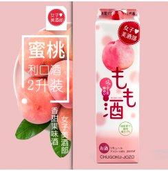 日本女子美酒部蜜桃利口酒原装进口水果酒女性甜酒配制酒2L包邮