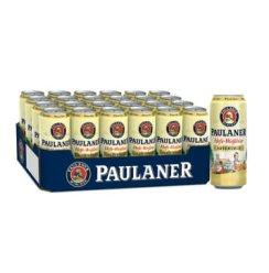 德国原装进口啤酒 保拉纳/柏龙(PAULANER)酵母型小麦啤酒 500ml*24听整箱装