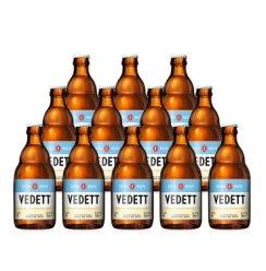 比利时进口精酿 白熊(Vedett Extra White)白熊小麦啤酒白啤 12瓶装白熊白啤