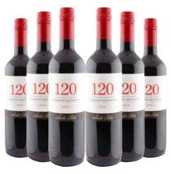【京东超市】智利桑塔丽塔120加本力苏维翁红酒六支装(ASC正品行货) 750ml×6瓶