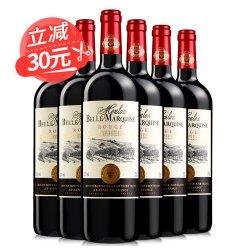 【第二件半价】红酒整箱法国进口红酒 梦诺侯爵夫人6支干红葡萄酒