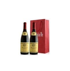 路易亚都世家勃根蒂黑皮诺法定产区干红葡萄酒双支礼袋装