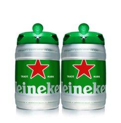 新日期Heineken 喜力铁金刚啤酒 荷兰原装进口啤酒 大桶5L装 5L*2桶